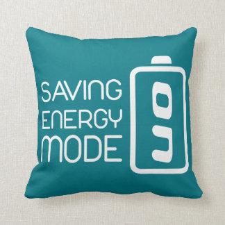 Saving Energy Mode ON Pillow Throw Cushions