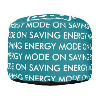Saving Energy Mode ON Pouf Round Pouffe