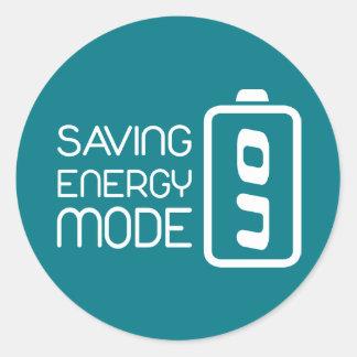 Saving Energy Mode ON Sticker