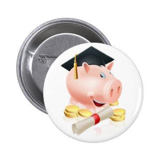 Saving for career piggy bank buttons
