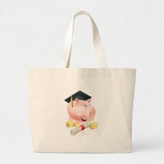 Saving for career piggy bank canvas bag