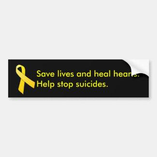 Saving Lives and Healing Hearts Bumper Sticker
