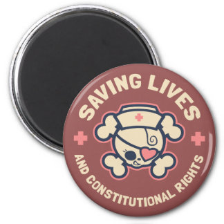 Saving Lives & Rights Magnet