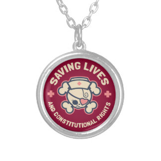 Saving Lives & Rights Silver Plated Necklace