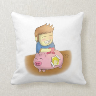 Saving love for someone special, piggy love bank throw pillows