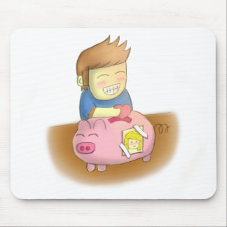 Saving love for someone special, piggy love bank mouse pad