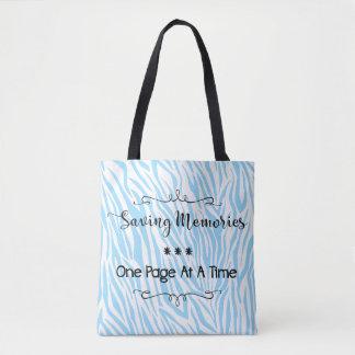 Saving Memories-Blue Print Tote Bag