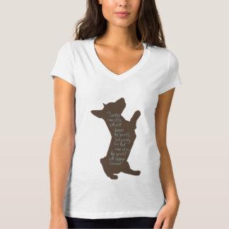 """""""Saving One Dog"""" Women's V-Neck T-Shirt"""
