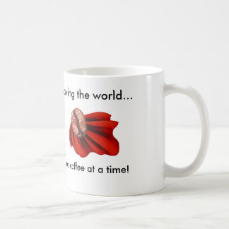 Saving the World Basic White Mug