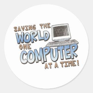 Saving theWorld Classic Round Sticker