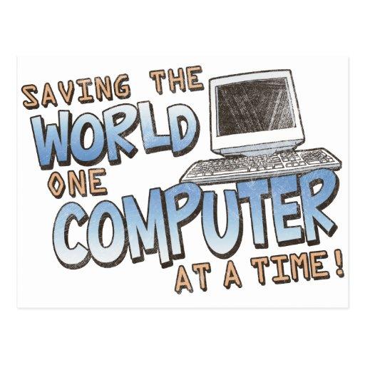 Saving theWorld Postcard