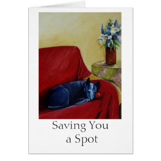 Saving You a Spot Card
