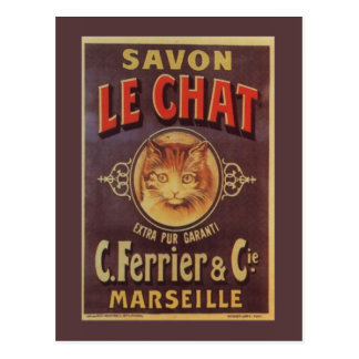 Savon Le Chat Fine Vintage French Soap Postcard