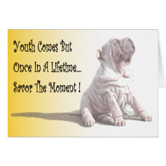 """Savor The Moment""  Note Card"