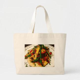Savory Green Pea and Tomato Veggie Saute Dish Tote Bags