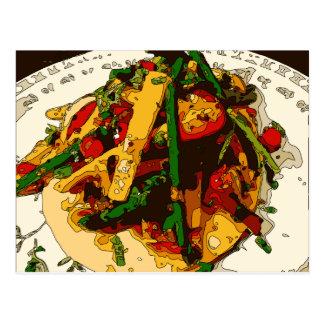 Savory Green Pea and Tomato Veggie Saute Dish Postcard