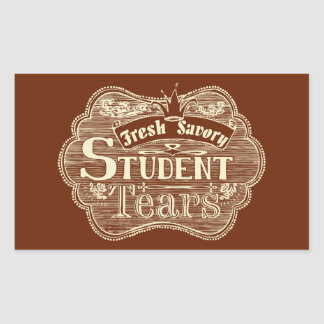 Savory Student Tears Hand Drawn Chalkboard Rectangular Sticker