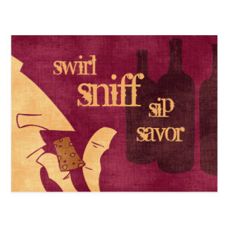 Savouring Wine Postcard