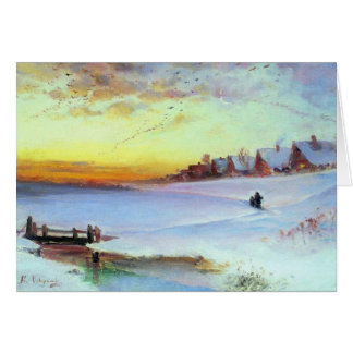 Savrason - Winter Landscape (thaw) Card