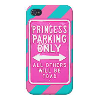 Savvy iPhone 4 Princess Parking Only Diag' Striped iPhone 4/4S Cases