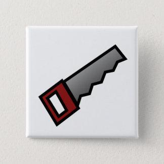 Saw 15 Cm Square Badge