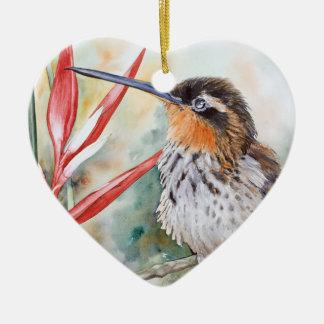 Saw-billed Hermit Hummingbird Ceramic Ornament