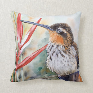 Saw-billed Hermit Hummingbird Fine Art Pillow