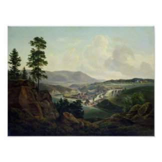 Saw Mill in Norway, 1827 Poster