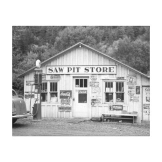 Saw Pit Store 1940 Gallery Wrap Canvas