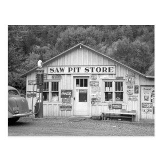 Saw Pit Store, 1940 Postcard