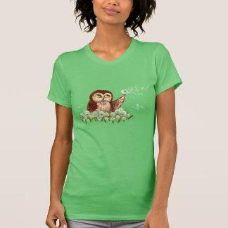 Saw-whet owl dandelion t-shirts