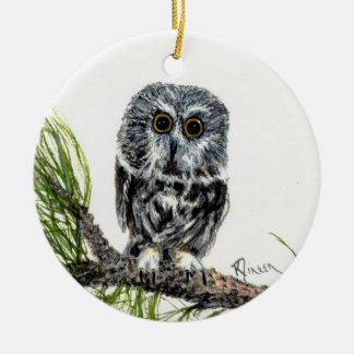 Saw Whet Owl ornament