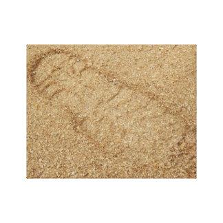 Sawdust Boot Print Canvas Print