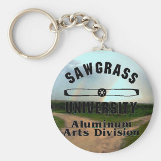 Sawgrass University Aluminum Arts Division Basic Round Button Key Ring