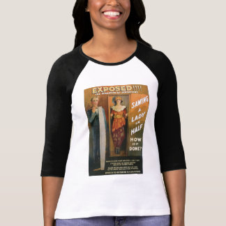 Sawing A Lady In Half ~ Magician Vintage Magic Act T-Shirt