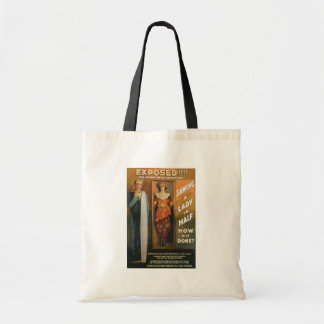Sawing A Lady In Half ~ Magician Vintage Magic Act Tote Bag
