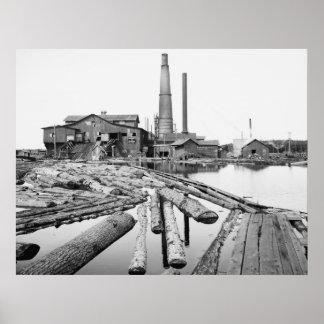 Sawmill, Marquette, Michigan, 1905 Poster