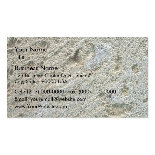 Sawn limestone block detail texture business card template