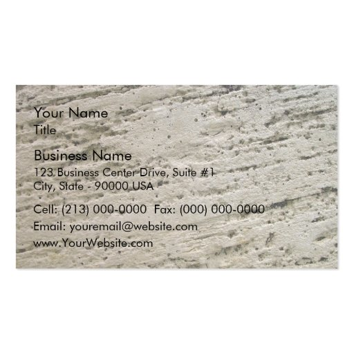 Sawn Limestone Texture Business Card