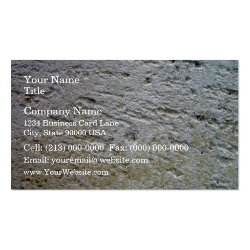 Sawn Limestone Texture with shade Business Card Template