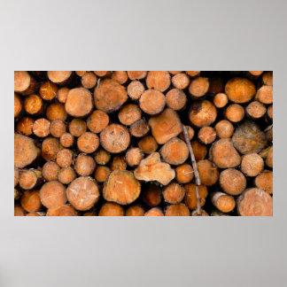 sawn logs poster