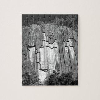 Sawn Rocks in Black & White Jigsaw Puzzle