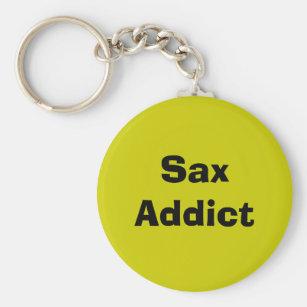 Sax Addict - saxophone Key Ring