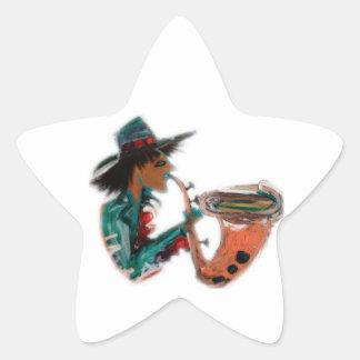 sax an abstract star sticker