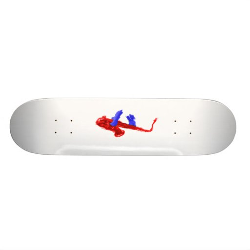 Sax design two hands red and blue version skate board decks