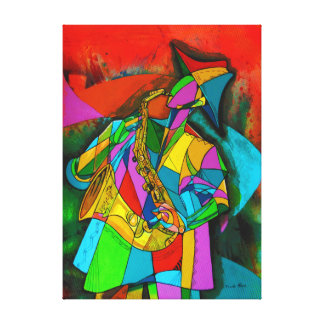 Sax in fire. canvas print