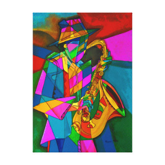 Sax in Midnight to. Canvas Print