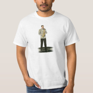 Sax jazz to player tee shirts