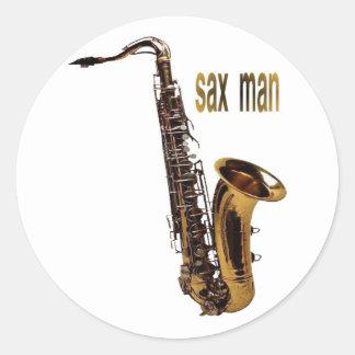 sax man sticker