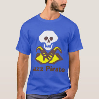 Sax Pirate, Jazz Music T-Shirt